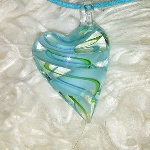 Jewelry - glass heart choker